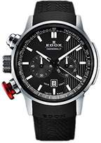 Edox Men's 10302 3 Gin Chronorally Analog Display Swiss Quartz Black Watch