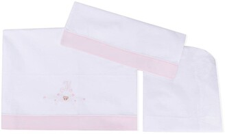 MonnaLisa M bow embroidered blanket