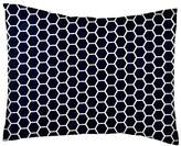 SheetWorld Percale Twin Pillow Case - Navy Honeycomb - Made In USA