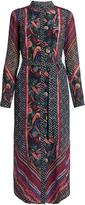 Saloni Molly floral-print silk-crepe dress