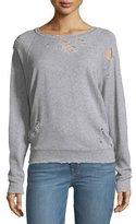 IRO Uprile Crewneck Distressed Pullover Sweatshirt