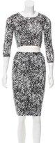 Nadia Tarr Abstract Bodycon Skirt Set