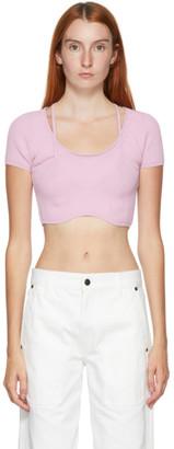 Jacquemus Pink La Maille Lauris T-Shirt