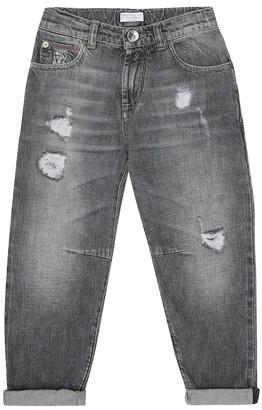 BRUNELLO CUCINELLI KIDS Distressed jeans
