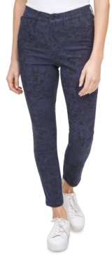 Calvin Klein Jeans Python-Print High-Rise Skinny Jeans