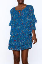 Olivaceous Blue Floral Dress
