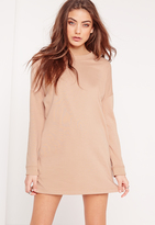 Missguided Petite Sweater Dress Camel