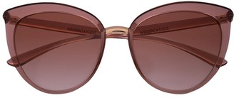 Dolce & Gabbana Eyewear Large Cat Eye Frame Sunglasses