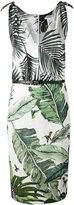 Max Mara contrast palm print dress - women - Silk/Linen/Flax/Polyamide/Acetate - 40