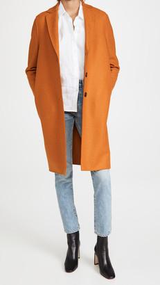 Harris Wharf London Pressed Wool Overcoat