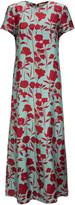 La DoubleJ Swing Silk-Satin Maxi Dress