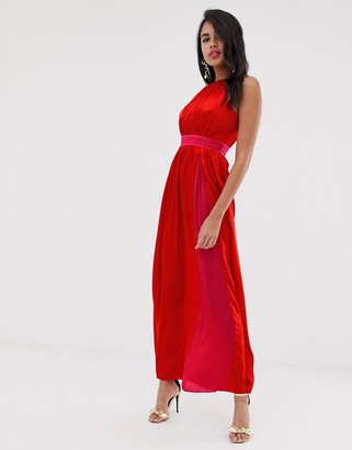 Little Mistress sleeveless maxi dress-Red