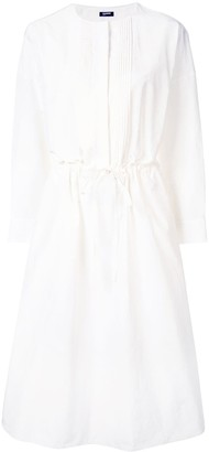 Jil Sander Navy Long-Sleeve Flared Dress
