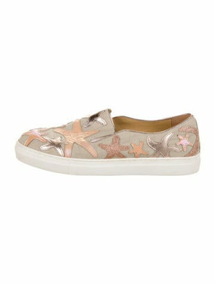 Charlotte Olympia Printed Round-Toe Sneakers
