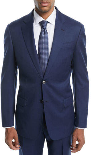 Emporio Armani Graph Check Two-Piece Wool Suit