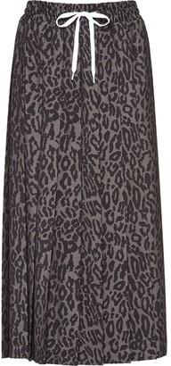 Miu Miu Pleated Leopard Print Skirt