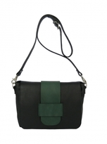 Kate Sheridan LATTICE BAG in Black & Forest Green - last one