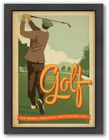 Americanflat Anderson Design Group ''Golf Lucky'' Framed Wall Art