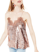 CAMI NYC The Racer Sequin Camisole, Rose Dust