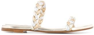 Gianvito Rossi Braided Strap Flat Sandals