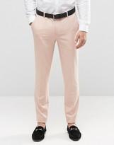 Asos Skinny Trousers In Pink