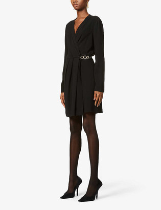 Diane von Furstenberg Christel chain-embellished crepe mini dress