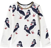 Little Marc Jacobs White Rockabilly Puffin Print Tee