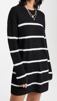 Alice + Olivia Lennie Striped Cashmere Tunic Mini Dress