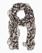 Charming charlie Ruffled Leopard Scarf