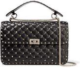 Valentino The Rockstud Spike Large Quilted Leather Shoulder Bag - Black