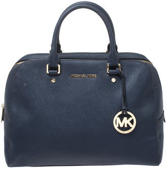 MICHAEL Michael Kors Blue Leather Boston Bag