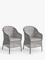 John Lewis & Partners Hoxton Garden Dining Armchairs, Set of 2, Grey