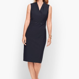 Talbots Seasonless Wool Faux Wrap Sheath Dress