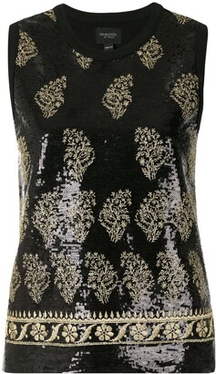 Giambattista Valli Embroidered Sequinned Top