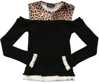 MonnaLisa Cotton Blend Knit Sweater