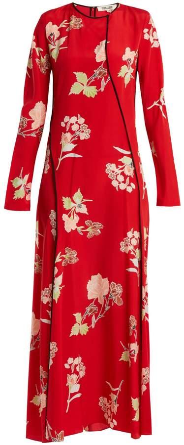 Diane von Furstenberg Split-hem silk crepe de Chine dress