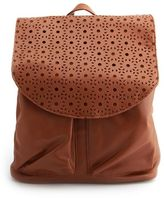 Charlotte Russe Laser Cut Faux-Leather Backpack