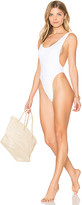 Norma Kamali Marissa One Piece in White. - size L (also in M,S,XS)