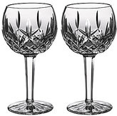 Waterford Lismore 60th Anniversary Collection Classic Lismore Balloon Wine Glass Pair