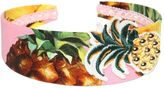 Dolce & Gabbana Pineapple Print Cotton Poplin Headband