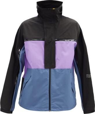 Fragment 7 Moncler Warren Stowaway Windbreaker Jacket - Black Purple