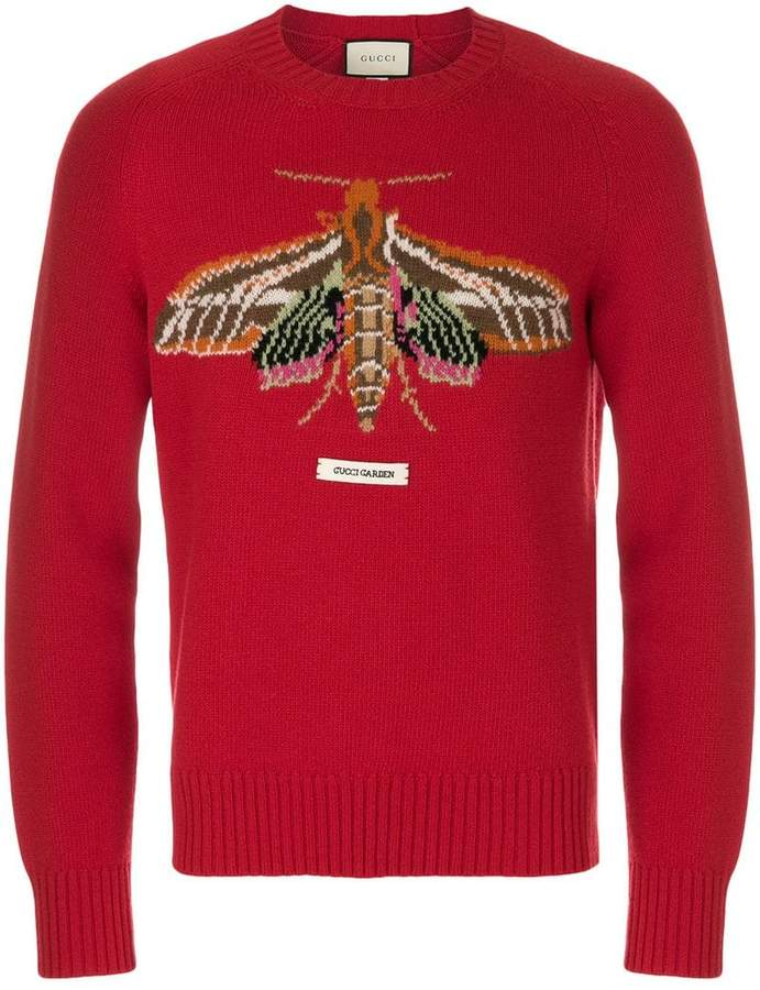 Gucci Garden moth intarsia sweater