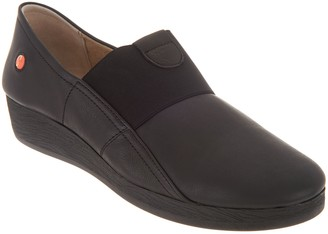 Fly London Leather Gored Slip-on Shoes - Amo