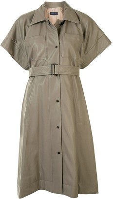 Eudon Choi Belted-Waist Shirt Dress