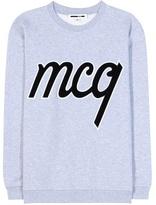 McQ by Alexander McQueen Embellished Cotton Sweatshirt