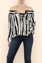 Solemio Off Shoulder Striped Top