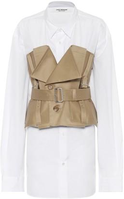 Junya Watanabe Cotton poplin and gabardine shirt