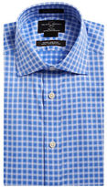 Black Brown 1826 Non-Iron Fitted Plaid Dress Shirt