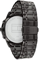 Tommy Hilfiger Tommy Hilfiger Kyle Blue Sunray Chronograph Dial Black IP Stainless Steel Bracelet Mens Watch