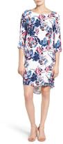 Halogen Print Woven Shift Dress (Petite)